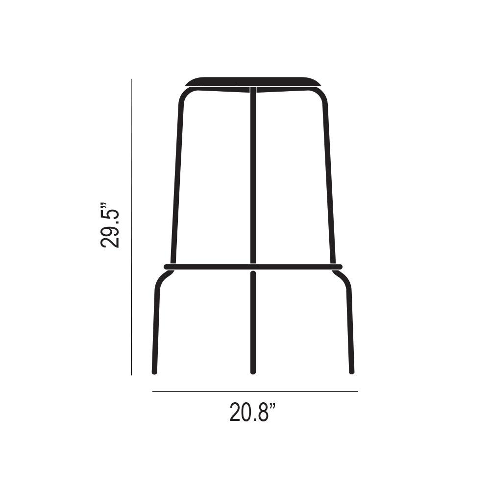 Stacker Bar Stool Product Silhouette